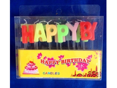 Happy birthday candle letters