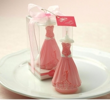 Bride and Groom dress shape wedding candle