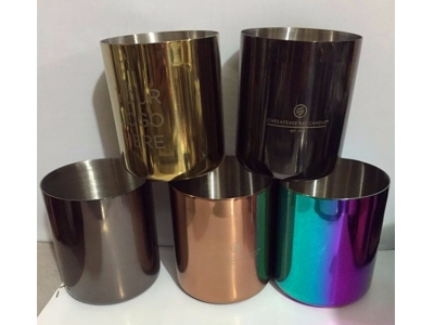 Metal cup scented candle