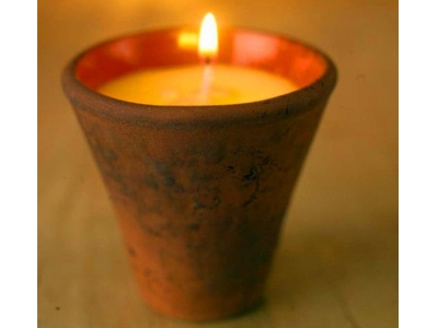 clay pot soy wax scented candle